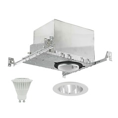 New Construction IC & Airtight 4-Inch LED Recessed Light Kit 3000K 525 Lumens