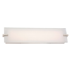 Hooked Polished Nickel LED Bathroom Light - Vertical or Horizontal Mounting