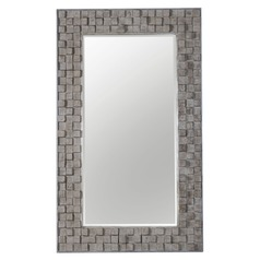 Uttermost Beasley Wood Block Mirror