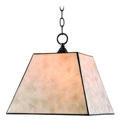 Kenroy Home Capell Bronze Pendant Light with Square Shade