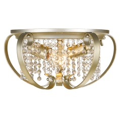 Golden Lighting Ella White Gold Flushmount Light