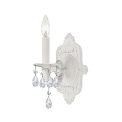 Sconce Wall Light in Wet White Finish