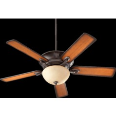Quorum Lighting Lowell Toasted Sienna Ceiling Fan with Light
