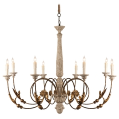 Aidan Gray Home Rustic Gold Chandelier