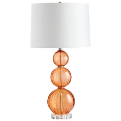 Cyan Design Beale Orange Table Lamp with Drum Shade