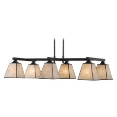 Kenroy Home Capell Bronze Island Light with Square Shade