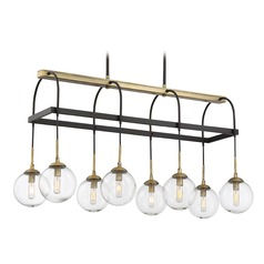 Savoy House Lighting Fulton English Bronze / Warm Brass Island Light with Globe Shade