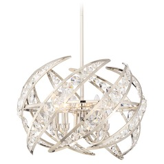 Quoizel Lighting Platinum Collection Crescent Polished Nickel Pendant Light