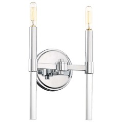 Minka Lavery Pillar Chrome Sconce