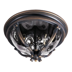 Maxim Lighting International Close To Ceiling Light with Clear Glass in Golden Bronze Finish 41420WGGO