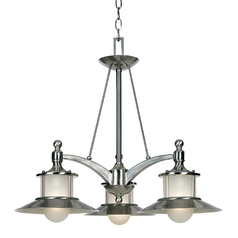 Quoizel Lighting Nautical Chandelier with Three Lights NA5103BN