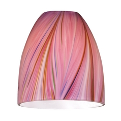 Pink Bell Art Glass Shade- Lipless with 1-5/8-Inch Fitter Opening
