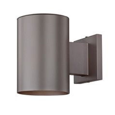 Bronze Cylinder Outdoor Wall Down Light with LED Light Bulb