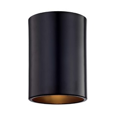 Recesso Lighting Matte Black Cylinder Flushmount Light