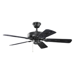 Kichler Lighting Basics Revisited Satin Black Ceiling Fan Without Light