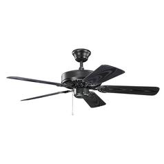 Ceiling fan without light energy efficient ceiling fans kichler lighting basics revisited satin black ceiling fan without light aloadofball Choice Image