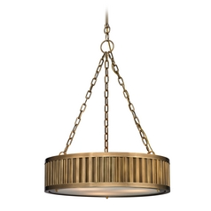 LED Pendant Light in Aged Brass Finish