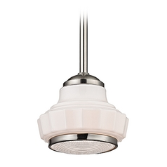 Art Deco Pendant Light Satin Nickel Odessa by Hudson Valley Lighting