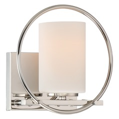 Quoizel Parallel Polished Nickel Sconce
