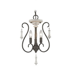 Elk Lighting Porto Cristo Palermo Rust / Birch Mini-Chandelier