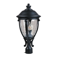 Maxim Lighting Post Light with Clear Glass in Black Finish 41421WGBK