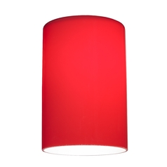 Red Glass Shade - Lipless with 1-5/8-Inch Fitter Opening