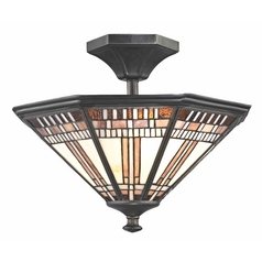Tiffany Bronze Finish Ceiling Light