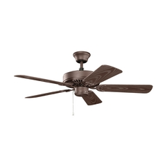 Kichler Lighting Basics Revisited Satin Natural Bronze Ceiling Fan Without Light