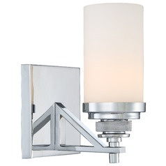Minka Brushcreek Chrome Sconce