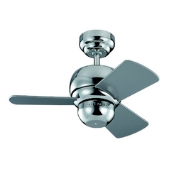 Ceiling Fan Without Light in Polished Nickel Finish