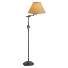 Swing-Arm Floor Lamp with Conic Shade
