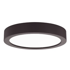 Flat LED Light Surface Mount 6-Inch Round Bronze 3000K