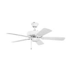 Kichler Lighting Kichler Lighting Basics Revisited Satin Natural White Ceiling Fan Without Light 414SNW