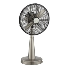 Savoy House Satin Nickel Desk & Table Fan