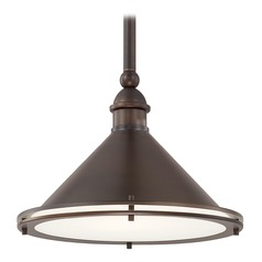 Capital Lighting Langley Burnished Bronze Pendant Light with Conical Shade