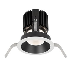 WAC Lighting Volta Black White LED Recessed Trim