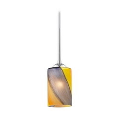 Design Classics Lighting Modern Mini-Pendant Light with Art Glass 581-26 GL1015C