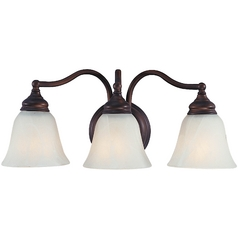 Feiss Lighting Three-Light Bathroom Light with Alabaster Glass VS6703-ORB