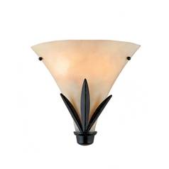 Quoizel Lighting Two-Light Pocket Wall Sconce with Leaf Designed Base CV8701IB