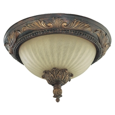 Quorum Lighting Madeleine Corsican Gold Flushmount Light