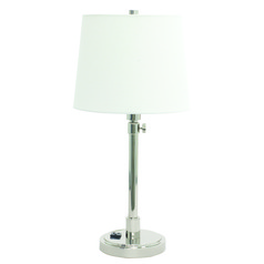 House Of Troy Townhouse Polished Nickel Table Lamp with Empire Shade