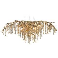 Brass crystal chandeliers gold finish crystal chandeliers golden lighting autumn twilight mystic gold chandelier aloadofball