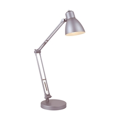 Lite Source Lighting Lite Source Lighting Tipfax Silver Desk Lamp LS-22063SILV