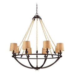Elk Lighting Natural Rope Bronze Chandelier