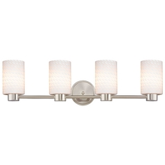 Lighting Aon Fuse Satin Nickel Bathroom Light