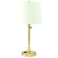 House Of Troy Townhouse Raw Brass Table Lamp with Empire Shade