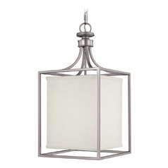 Capital Lighting Midtown Matte Nickel Pendant Light with Rectangle Shade