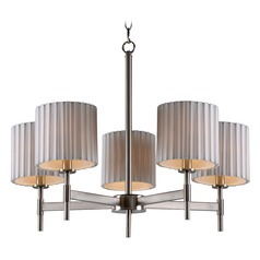 Kenroy Home Grace Brushed Steel Chandelier