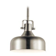 Farmhouse LED Mini-Pendant Light Brushed Nickel by Kichler Lighting