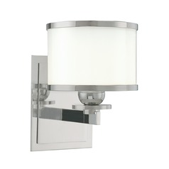 Modern Transitional Sconce Satin Nickel Basking Ridge by Hudson Valley Lighting